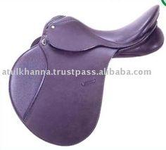 Purple english saddle