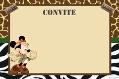Convite-minnie-safari