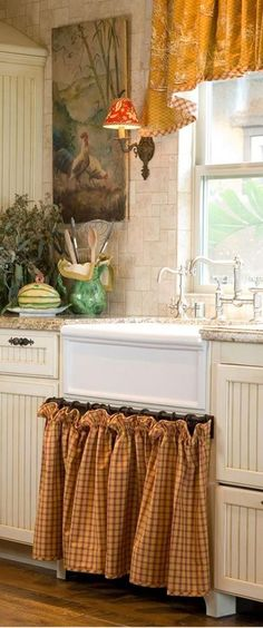 41 Charming French Country Kitchen Curtain Design Ideas