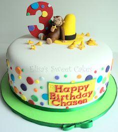 Curious George Cake - Cake by Elisa's Sweet Cakes Curious George Cake Topper, Curious George Cakes, Curious George Party, Curious George Birthday, Monkey Birthday Parties, 2 Birthday Cake, Birthday Ideas, Cake Cookies, Cupcake Cakes