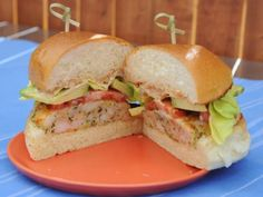 Get this all-star, easy-to-follow Shrimp Burgers with Old Bay Mayo recipe from Katie Lee