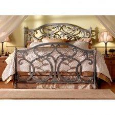 Laurel Iron Bed by Wesley Allen - Textured Copper Moss Finish