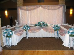 Ideas For Head Table At Wedding find this pin and more on brittany wedding wedding decor head table Reception Head Table