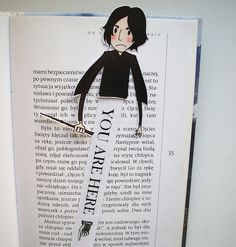 Severus Snape (Harry Potter books) printable bookmark - you will get a digital file for printing bookmark, 300 dpi high resolution, jpg and pdf