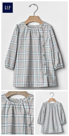 Plaid button-front dress Source by Stylish Dresses For Girls, Stylish Dress Designs, Frocks For Girls, Designs For Dresses, Little Girl Dresses, Kids Dress Patterns, Baby Frocks Designs, Pakistani Dresses Casual, Dress Anak