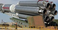 Russian cargo rocket Proton preparing to launch at the ISS