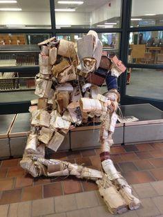 Book statue at the University of Alberta, super cool