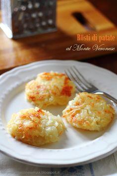Le mie ricette con e senza: Rösti di patate al formaggio...ricetta di riciclo ...