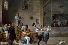 David Teniers II - Interior of an Inn with Dancing Peasants