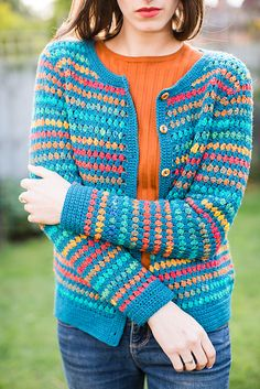 Ravelry: Jessica Vintage Cluster Cardigan pattern by Catherine Waterfield