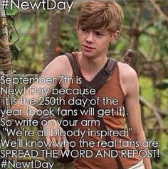 Okay so I knew newt day was on the 7th but I didn't realize that was why