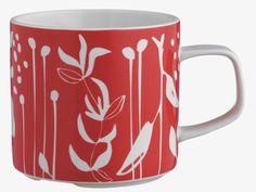 Habitat - the UK home of remarkable design at affordable prices Kitchenware, Tableware, Red Mug, Uk Homes, Porcelain Mugs, My Cup Of Tea, Red Pattern, Argos, Mug Designs