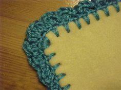 How to crochet edging on a fleece blanket. Brilliant!