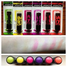NEW Maybelline Baby Lips ELECTRO Collection - I am addicted to Baby Lips and these are so cute.
