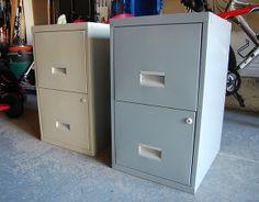 DIY Filing Cabinet Desk :: Hometalk