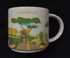 Starbucks Australia Mug YAH Koala Kangaroo You Are Here Ayers Turtle Outback #Starbucks