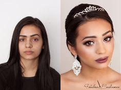 Before& after bridal transformation. #bridalmakeup #makeupforyourewedding #weddingmakeup #makeupideasforwedding