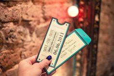 Un Save the Date en forma de tickets. ¡Reserva ya tu entrada!
