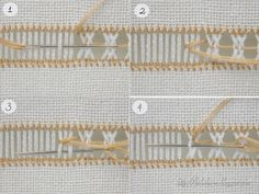 Кольорові барви: Перевиті прутики Hardanger Embroidery, Hand Embroidery Stitches, Knitting Stitches, Hem Stitch, Cross Stitch, Plastic Canvas Stitches, Smocking Patterns, Herringbone Stitch, Drawn Thread