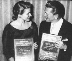 Ingrid Bergman and Kirk Douglas