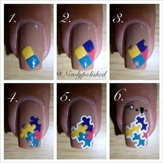Autism awareness autism jasiahs journey pinterest easy puzzle nail art design step by step tutorial calgary edmonton toronto prinsesfo Images