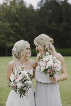 BEN + LARA // Stunning romantic Hunter Valley wedding at Circa 1876  Lara wore the beautiful blush-hued 'Saskia' gown from the BESPOKE collection by @kwhbridal. Photography - Justin Aaron Photography • Florist - Merrin Grace Floral Design Cake – Deleen Morrison • Hair and Make-Up – CHIC ARTISTRY  // Follow us @kwhbridal