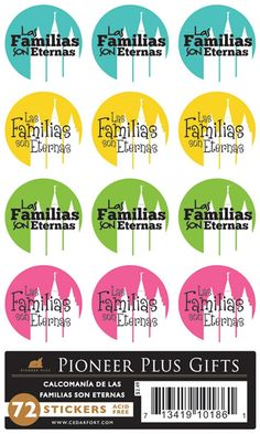 Available in Spanish! Las Familias son Eternas Remind your child about the importance of eternal families with these cheerfully bright, Families are Forever stickers. These stickers are wonderful additions to gifts, scrapbook layouts, and more....