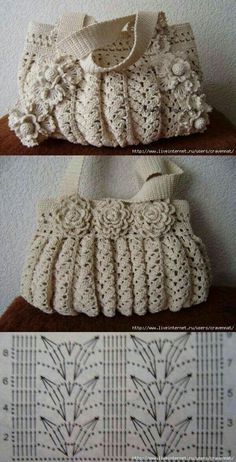 Marvelous Crochet A Shell Stitch Purse Bag Ideas. Wonderful Crochet A Shell Stitch Purse Bag Ideas. Crochet Diy, Crochet Tote, Crochet Handbags, Crochet Purses, Vintage Crochet, Crochet Flower, Purse Patterns, Knitting Patterns, Crochet Patterns