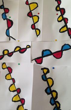 Alexander Calder, Kindergarten Art, Preschool Art, Kids Art Class, Art For Kids, Op Art Lessons, Form Drawing, Illustrator Tutorials, Painting For Kids
