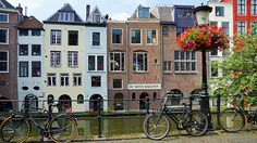 Netherlands street  http://5kwallpapers.com/wall/netherlands-street  #canals #Amsterdam #Netherlands #building #architecture #nature