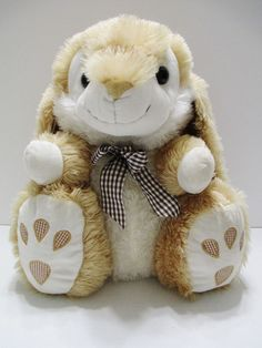 "Brown 15"" Stuffed Plush Rabbit Bunny Long Floppy Ears Brown Checkered Ribbon #Unknowntagremoved..... Visit all of our online locations..... www.stores.ebay.com/ourfamilygeneralstore ..... www.bonanza.com/booths/Family_General_Store ..... www.facebook.com/OurFamilyGeneralStore"