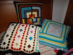 conjunto de almofadas de croché