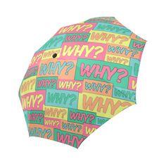 Why? Comic Cartoon Auto-Foldable Umbrella Umbrellas, Cartoon, Comics, Model, Scale Model, Cartoons, Comic, Models