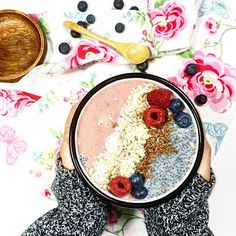 Smoothie bowl à la framboise - chia pudidng