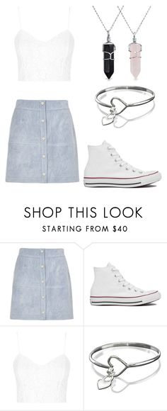 """""""Untitled #1258"""" by gabrielle-dixon ❤ liked on Polyvore featuring River Island, Converse, Topshop and Bling Jewelry"""