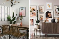 Qanvast's Picks: 6 Affordable Boho Furniture from Shopee | Qanvast Rattan Coffee Table, Beige Sofa, Interior Design Living Room, Interior Inspiration, Living Room Furniture, Love Seat, Gallery Wall, Boho, Home Decor
