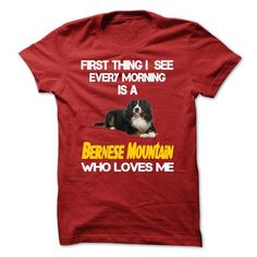 I See My Bernese Mountain Every Morning - #tee ball #tshirt drawing. PURCHASE NOW => https://www.sunfrog.com/Pets/I-See-My-Bernese-Mountain-Every-Morning.html?68278