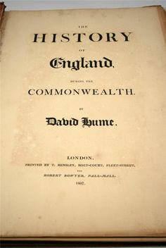 ANTIQUE BOOKS - $249.99 - The History Of England During The Commonwealth by David Hume Hardcover Year 1807 #antiques #books #england #davidhume #london
