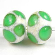 Lampwork Dot Beads