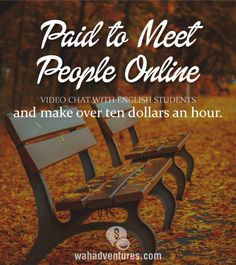 Get Paid to Video Chat With English Students Work From Home Companies, Work From Home Tips, Make Money From Home, Way To Make Money, Make Money Online, Money Tips, Money Saving Tips, Home Business Organization, Meet People Online