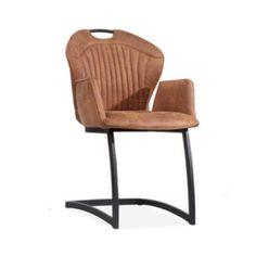 Deze stoere eetkamerstoel Chicco heeft een comfortabele armleuning en is uitgevoerd in het rijke Montana microleder. Chair, Montana, Furniture, Home Decor, Stool, Interior Design, Home Interior Design, Arredamento, Home Decoration