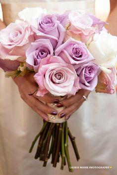 Lavendar, Pink & Ivory Bridal Bouquet