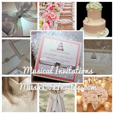 """Now you can have your invitation play """"Diamonds are a Girl's Best Friend""""! MusicBoxInvites.com #Wedding #Invitation that #plays #song #custom #design #elegant #classic #classy #music. Musical Wedding Invitations. #Couture #Beautiful #Gorgeous #Inspiration #Ideas #Cake #Decorations #Shower #Bride #Bridal #announcement #Invite #Bridesmaid #Gift #Table #Venue Setting #RSVP card #ring #diamond #pink #silver #roses #flowers #dress #gown #fuschia #white #candle"""