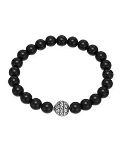 Large Black Chalcedony Beaded Bracelet with Magnetic Clasp by John Hardy at Neiman Marcus.