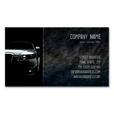 Black Stone Car Front Business Card. Make your own business card with this great design. All you need is to add your info to this template. Click the image to try it out!