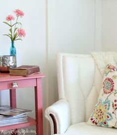 Thrifty French Chair Makeover (with Annie Sloan Chalk Paint!!)