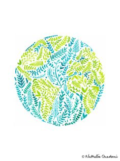Watercolor World Globe for Earth Day 2015 - Nathalie Ouederni | www.studiokalumi.com