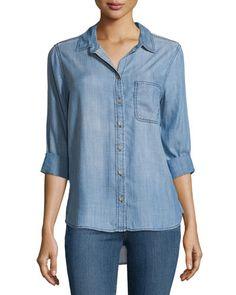 Velvet Heart Blake Button-Down Blouse, Medium Blast  New offer @@@ Price :$98 Price Sale $69