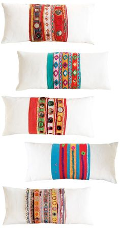Heidi Merrick Pillows with shisha