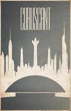 Minimalist Star Wars Galaxy Posters | Abduzeedo | Graphic Design Inspiration and Photoshop Tutorials